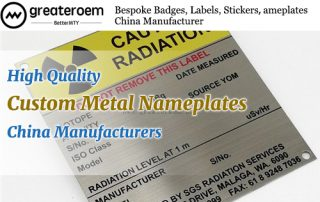 High Quality China Custom Metal Nameplates Manufacturers GREATEROEM